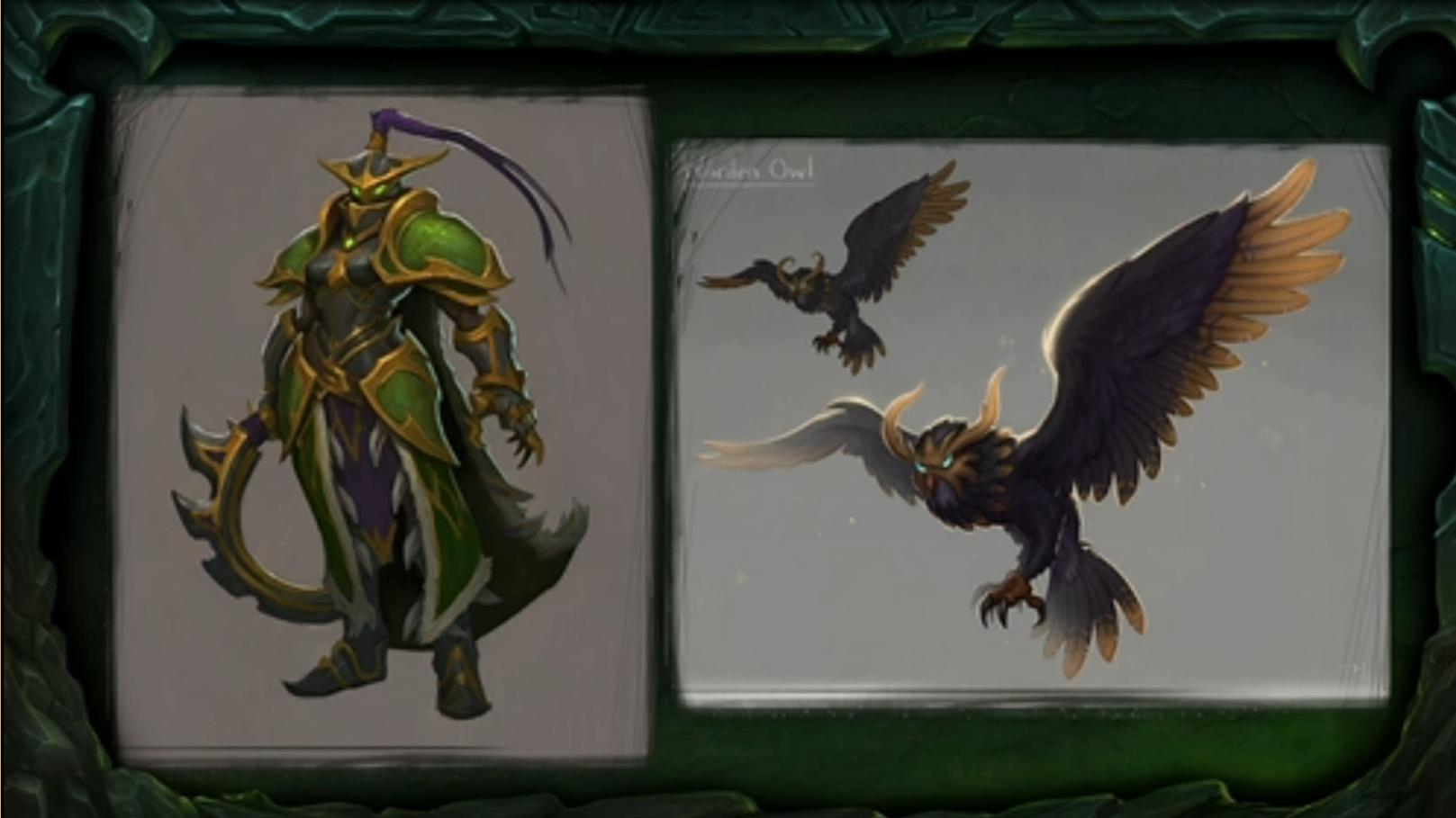 image blizzcon legion azsuna warden warrior and owl concept art