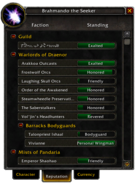 Char window-Reputation tab Warlords-Patch 6 2 3