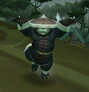 Pandaren monk pose