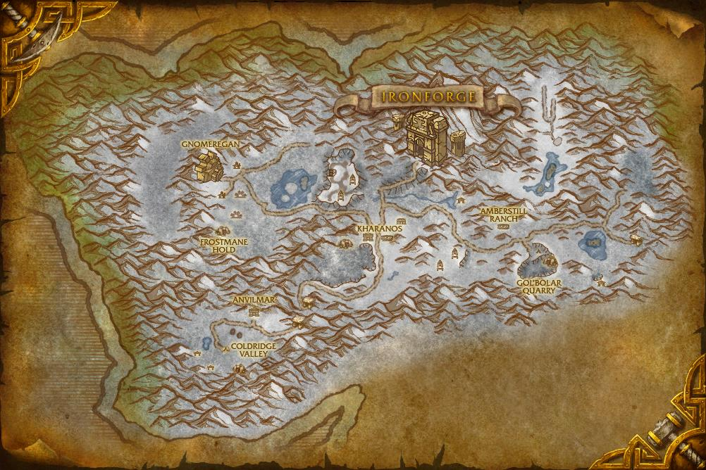 Image   WorldMap DunMorogh. | WoWWiki | FANDOM powered by Wikia
