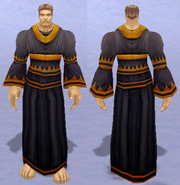 Death Speaker Robes, Snow Background, Human Male