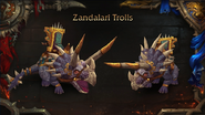World of Warcraft Zandalari Troll mounts - Blizzcon 2018