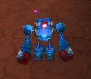 Blue clockwork rocket bot