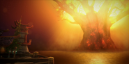 Battle for Azeroth - Teldrassil burning