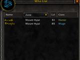 Who List