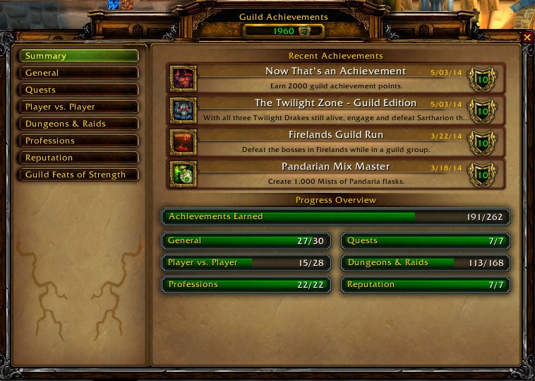 Guild achievements | WoWWiki | FANDOM powered by Wikia