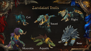 World of Warcraft Zandalari Troll druid forms - Blizzcon 2018