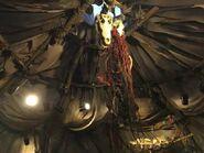 Orc tent roof skulls