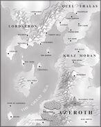 Warcraft II - Map of Eastern Kingdoms