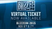 BlizzCon 2015 Virtual Ticket