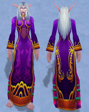 Festive Purple Dress, Snow Background, NE Female