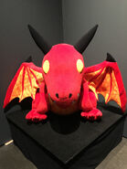Giant crimson whelpling plush