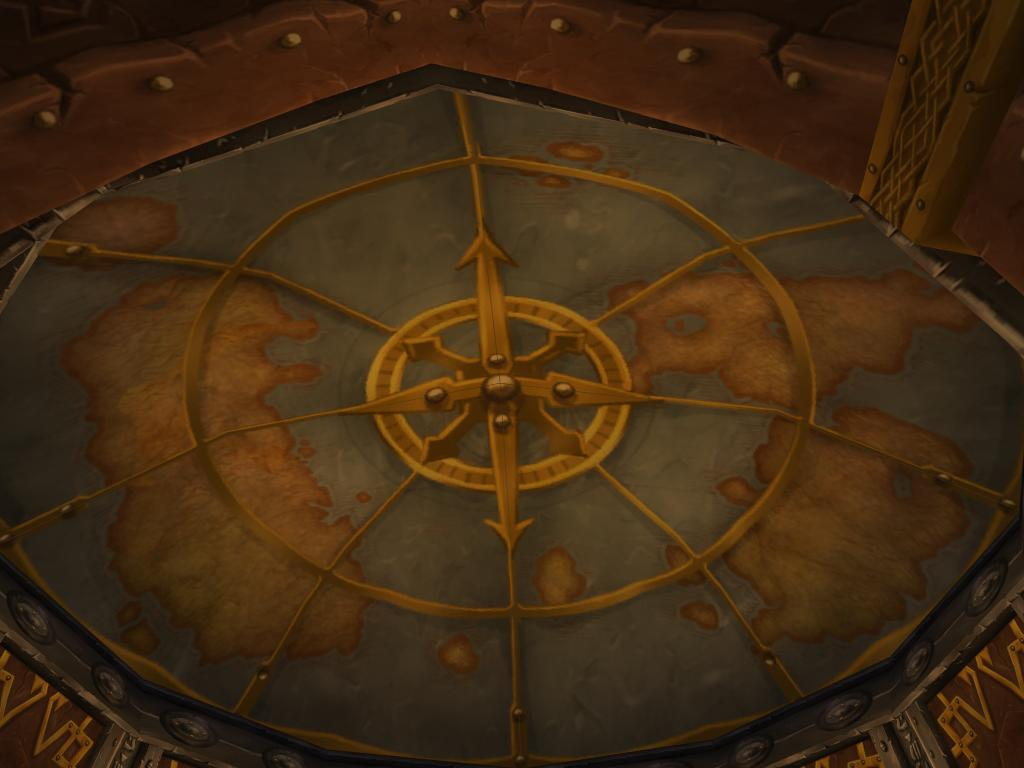 Azeroth Map on Wall