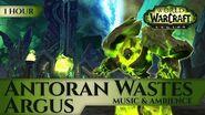 Argus, Antoran Wastes - Music & Ambience (1 hour, 4K, World of Warcraft Legion Shadow of Argus 7