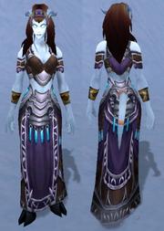Robes of Mutation, Snow Background, Draenei Female