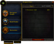 Dungeon Finder window Scenarios 5 0 5 16057