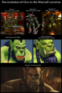 The evolution of Orcs in the Warcraft universe