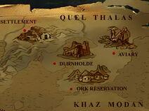 Warcraft Adventures Map of Lordaeron