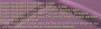 Eredar description