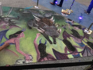 Chalk art before food trucks