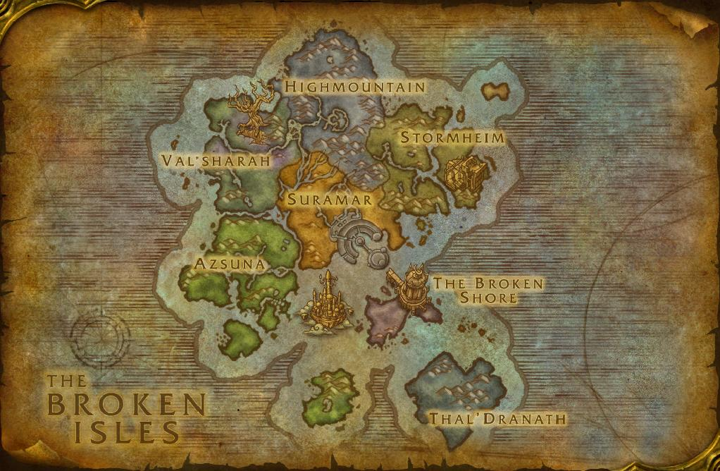 Legion maps wowwiki fandom powered by wikia broken isles as of build 20740 gumiabroncs Images