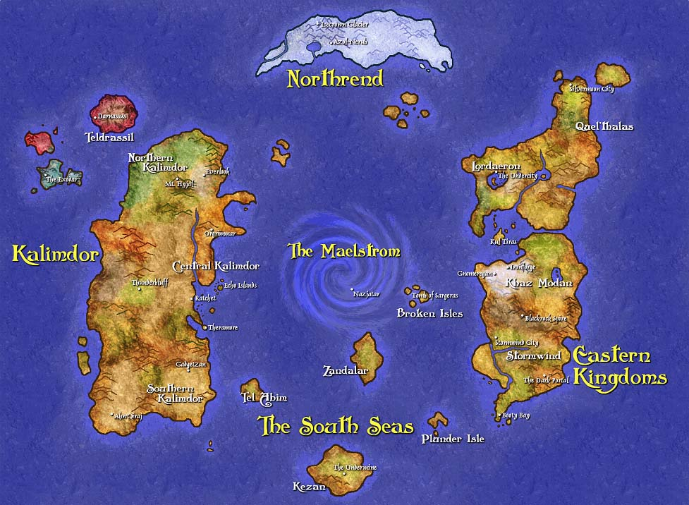 Azeroth world wowwiki fandom powered by wikia warlock world map gumiabroncs Images