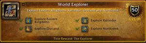 World Explorer Achivement