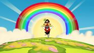 S1e16b Rainbow appears behind Wander and Hater