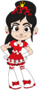 Teen Vanellope in a Prom Dress
