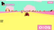 Vanellope racing on track