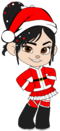 Vanellope as Mrs Claus with Santa Hat