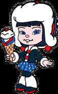 Adorabeezle Winterpop with her Ice Cream