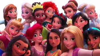 Disney Princesses Selfie