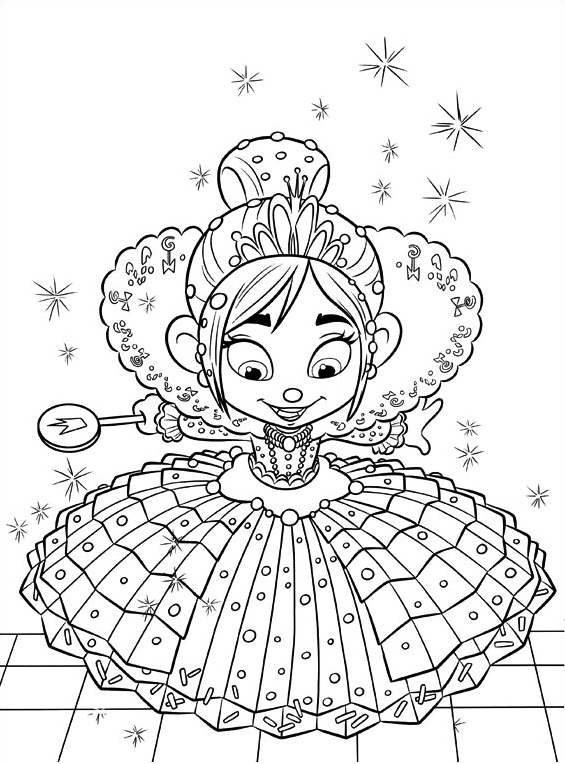 vanellope von schweetz coloring pages - image vanellope color wreck it ralph wiki