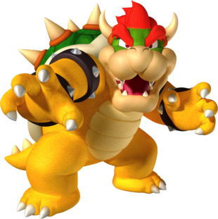 Bowser promo art from New Super Mario Bros. 2. Refer to appearance section for detailed description.