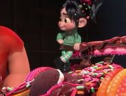 Vanellope smiling at Ralph