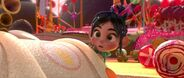 Vanellope Behind King Candy's Kart