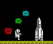 Astronaut in jetpac
