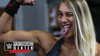 WWE Building strong arms with Rhea Ripley - Feb. 9, 2018