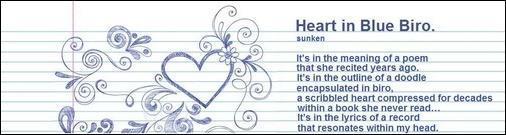 Heart in blue sm