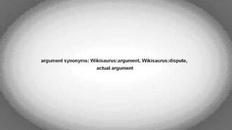 Argument Meaning