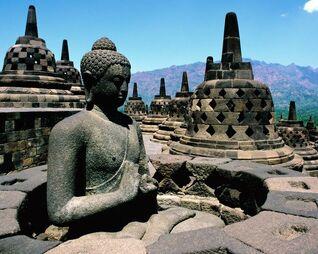 Borobudur-Temple-in-Indonesia Panoramic-views