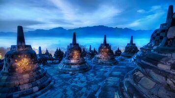 Borobudur-Temple-night