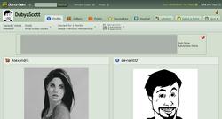 DeviantART-page