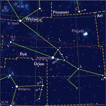 Taurus constelation PP3 map PL