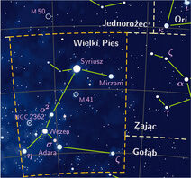 Canis major constelation PP3 map PL