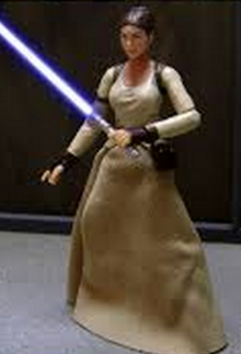 Asian Female Jedi blurry
