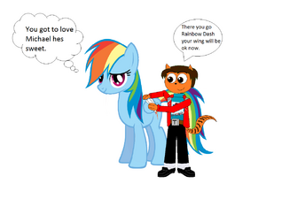 Me and Rainbow Dash