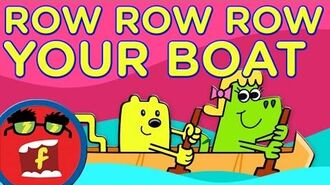 Row, Row, Row Your Boat - Fredbot Kids Songs (Lucy the Dinosaur)
