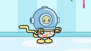 TNN - Wubbzy Wearing a Deep Sea Diving Helmet